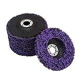 XIAOFANG Fangxia Store 5 unids Abrasive Wheel Mollinder Strip Dish 125 mm Poly Strip Dish Dish Rueda Pintura RUTE ROX ROXTOBLE Limpiar para la eliminación de la Amoladora de ángulo (Color : 125 mm)