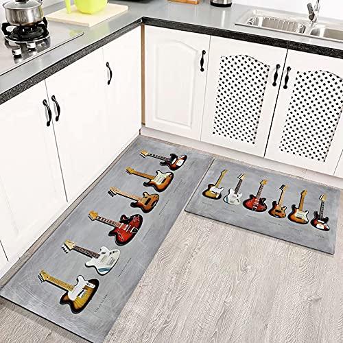 Alfombras Cocina Goma Alfombra de Baño Ducha 2PCS Fender Stratocaster Telecaster Bass...