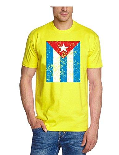 Coole-Fun-T-Shirts T-Shirt Cuba Vintage - Kuba Libre, gelb, XXL, N10779_Gelb_GR.XXL