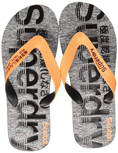 Superdry Herren Zehentrenner Zehentrenner SCUBA GRIT FLIP FLOP, Mehrfarbig (Fluro Orange/Black/Grey Grit X2a), 42/43 EU (Herstellergröße: M)
