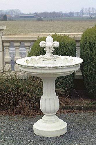 pompidu-living Brunnen, Gartenbrunnen, Zierbrunnen, Fountain, Flamme, H 150 Farbe Terracotta