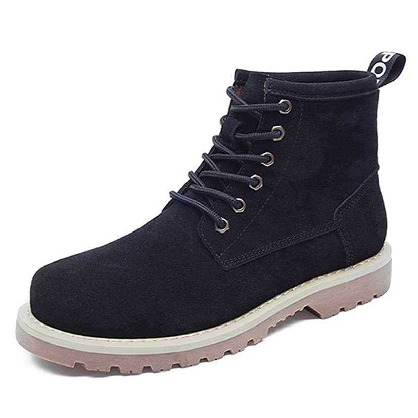 砂のソケット石灰岩マーティンブーツ ショートブーツ メンズ 本革 ハイカット レースアップ 黒 ブラック ベージュ 衝撃吸収 滑り止め ラウンドトゥ ワークブーツ アウトドア カジュアル メンズ靴