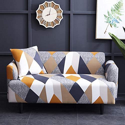 NANAD - Funda para sofá de Cuatro Estaciones, Antideslizante, Tela elástica, Lavable, elástica, para sofá de Dos plazas, Todo Incluido, 2 Fundas de cojín (1/2/3 plazas), 1, 3 seaters