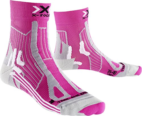 X-Socks Mujer Trail Run Energy Lady calcetín, Mujer, Trail Run Energy Lady, Pink/Pearl Grey