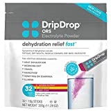 DripDrop ORS - Electrolyte Powder For Dehydration Relief Fast - For Workout, Sweating, Illness,...