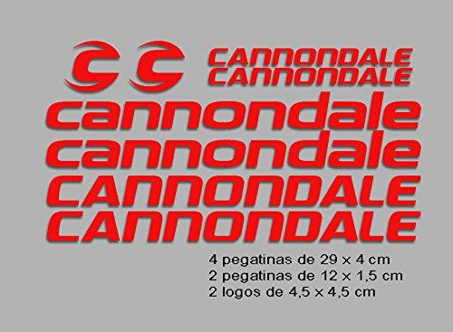 Ecoshirt VP-O0CX-WMYG Pegatinas Cannondale F117 Vinilo Adesivi Decal Aufkleber Клей MTB Stickers Bike, Rojo