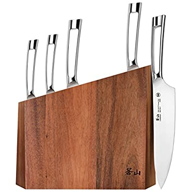 Cangshan N1 Series 59205 6-Piece German Steel Forged Knife Block Set, Oprah's Favorite Things 2017