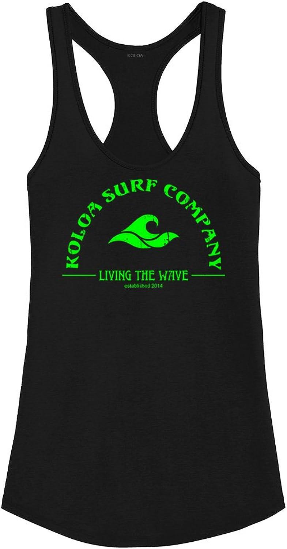 Joe's USA Koloa Surf Ladies Living The Wave Shirttail Satin Jersey Tank Top Size SXL