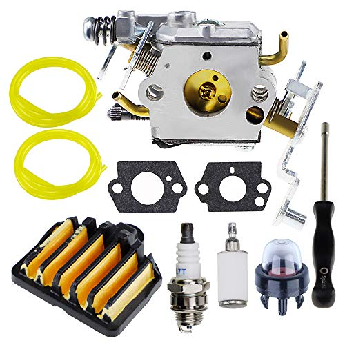 HUZTL PP5020AV Carburetor 575296301 Air Filter for Poulan Pro PP5020 Chainsaw 2 Stroke Chainsaw Replace 573952201 C1M-W47 Craftsman 358.350982