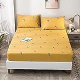 FJMLAY Sábanas ajustablesperfecto para el colchón, sensación Suave,Sábanas de algodón para Cama, Almohadillas Protectoras para Dormitorio Apartments-R_180cmx200cm