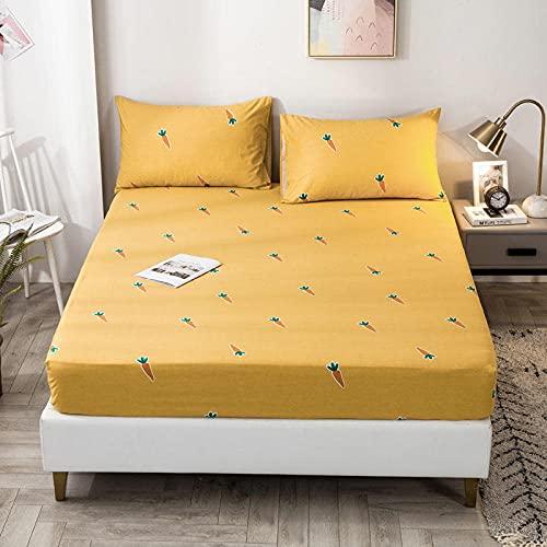FJMLAY Sábanas bajerasde Tacto Suave,Sábanas de algodón para Cama, Almohadillas Protectoras para Dormitorio Apartments-R_120cmx200cm
