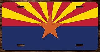 Arizona State Flag Vanity Front License Plate Tag Printed Full Color KCFP002