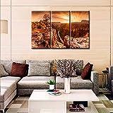 TUMOVO Kunstdruck auf Leinwand, Motiv Sonnenuntergang am