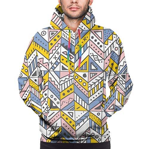 Herren Hoodie Vektor Nahtloses Muster Mit Ethnic Tribal Hand Gezeichnet Trendy Ornamente Sweatshirt S.