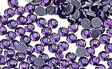 BrillaBenny 1400 brillantes de tanzanita lila termoadhesivos DmC MC Quality Rhinestone Crystal Glass Lilac Violet Hot Fix (SS16/4 mm)