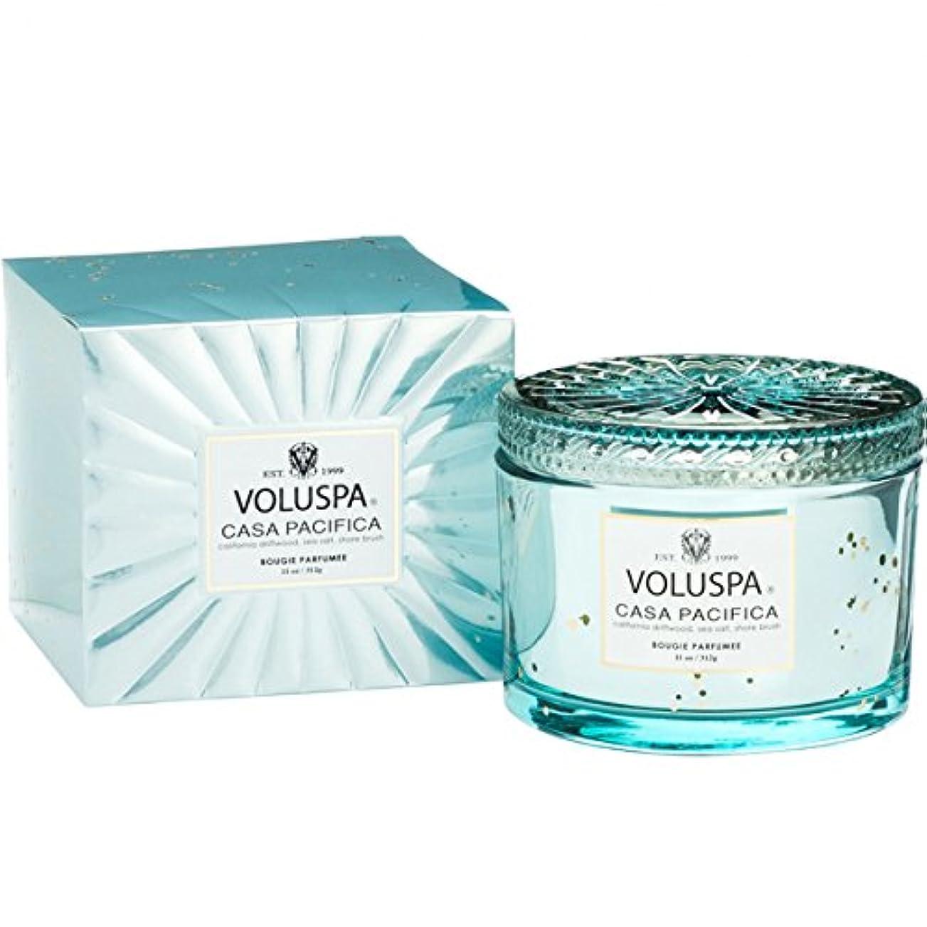 クレジットせせらぎ喜びVoluspa ボルスパ ヴァーメイル ボックス入り グラスキャンドル カーサハ?シフィカ CASA PACIFICA VERMEIL BOX Glass Candle