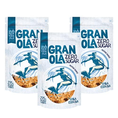 Granola Sin Azúcar de Avena Integral - Elaborada con Crema de Cacahuetes y Aceite de Oliva Virgen Extra - Proceso 100% Artesano - Alto Contenido en Proteína - Con Ingredientes Naturales