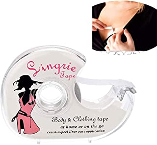 LAYOPO Double Sided Body Tape, Fashion Boob Tape Transparent Clear For Clothing & Dress & Body 5M