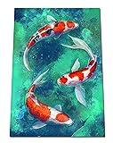 Japanese Koi Fish Print Painting - Koi Carp Print - Zen Wall Artwork