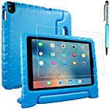AFUNTA Schutzhülle für iPad Air 2, Pro 9.7 mit Bildschirmschutzfolie & Stylus, Shockproof Cabrio Handgriffständer Eva Hülle, PET Kunststoffabdeckung & Touch Pen für Tablet Apple iPad - Blau