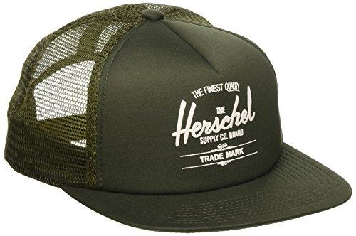 Herschel Gorra Whaler Mesh Flatbrim Cap de Baseball (Talla única - Verde Oscuro)