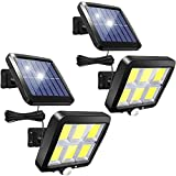 Solar Security Lights Outdoor, 120 LED Solar Lights Motion Sensor, 3 Modes Solar Flood Lights with 16.4ft Cable, IP65 Waterproof Solar Powered Shed Lights for Garden Door Wall Yard Garage (2 Pack)…