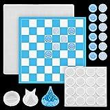Juego de 3 moldes de ajedrez de resina de silicona para tablero de ajedrez, molde de resina epoxi, molde de resina de silicona para hacer joyas
