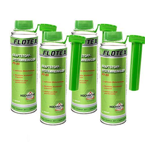 Flotex Kraftstoffsystemreiniger, 4 x 250ml Additiv Reiniger Kraftstoff-System