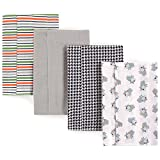Luvable Friends Baby Layered Flannel Burp Cloth Bib, Bull Dog 4pk, One size (pack of 4)