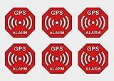 Lot de 6 Autocollants de qualité supérieure pour Alarme GPS - Alerte de sécurité - Résistant aux intempéries - Résistant aux UV