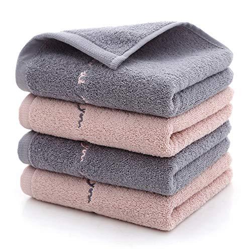 Family Needs 2PCS Virgin Katoen Cushiony absorberende Face handdoek Long-nietje katoenen geborduurde handdoek (Color : Random, Size : 74 * 34cm)