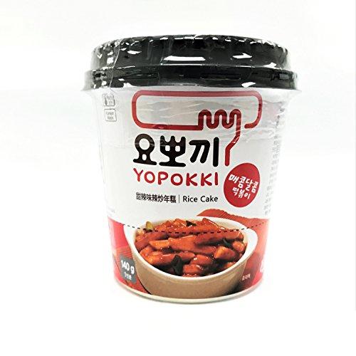 Yopokki Koreanische Reiskuchen Mit Scharfer Sauce (Scharf Topokki) 140G