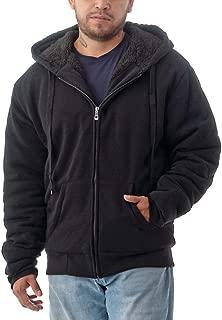 Jvini Men's Ultra Soft Sherpa Lined Hoodie - Full Zip Fleece Lining Winter Sweatshirts