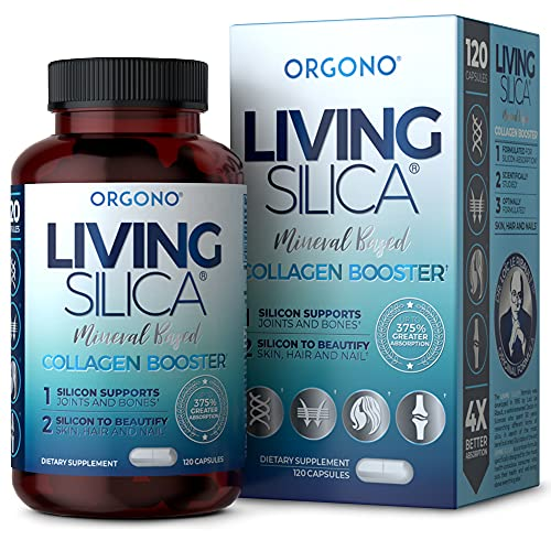 Living Silica Collagen Booster Capsules   Ultra High Absorption   Supports Healthy Collagen and Elastin Production for Joint & Bone Support, Glowing Skin, Strong Hair & Nails (120 Count)