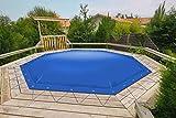 Cubierta de piscina hinchable octogonal para camiones 680 g/m2 (1360 g/m2) (330 cm x 330 cm), color marrón RAL8017