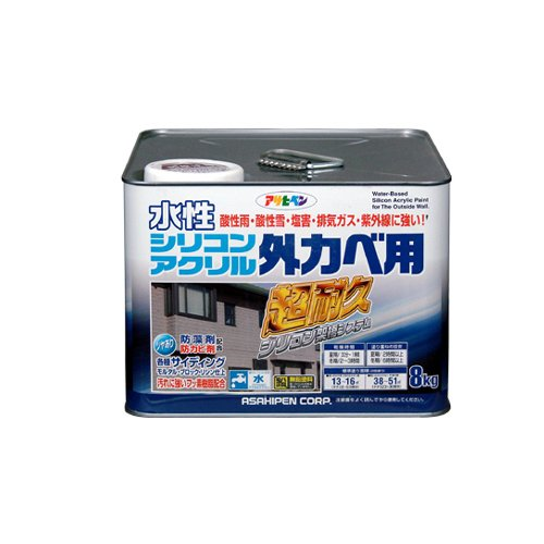 水性シリコンアクリル外かべ用 8kg