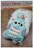 Crochet pattern - CP327 - bébé sac de couchage hibou -0-3, 3-6, 6-9mois - français