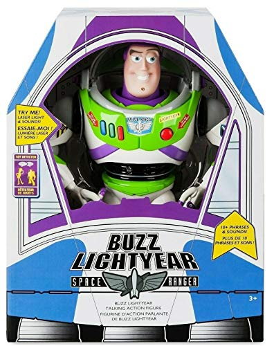 Toy Story Disney Advanced Talking Buzz Lightyear Action Figure 12'' (Official Disney Product). Ideal Toy For Child and Kid. by