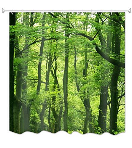 A.Monamour Natur Landschaft Grüne Bäume Wald Bild Druck Textil Duschvorhang Für Bad Zubehör wasserdichte Tischdecke 180X200 cm / 72
