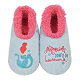 Snoozies Pairables Womens Slippers - House Slippers - Mermaid - Large