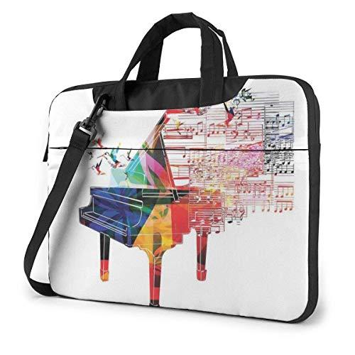 Colorido Teclado de Piano música Unisex Bolsa de Ordenador portátil Bandolera de Mensajero para maletín de Ordenador Funda de Transporte