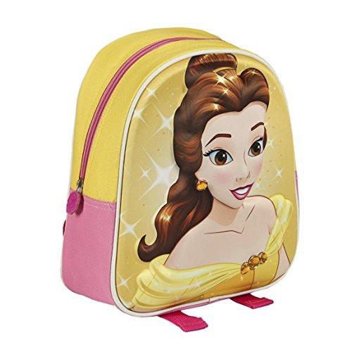Kinder-Rucksack, Motiv: Disney-Prinzessin Belle aus Die Schöne und das Biest 2100001673,28cm, 3D-Effekt