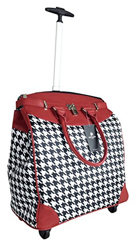 Best Review Of Trendy Flyer 20 Computer/Laptop Bag Tote Duffel Rolling 4Wheel Case Tablet (Houndsto...