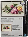 Dimensions 'Rose Cuttings' Floral Counted Cross Stitch Kit, 14 Count Ivory Aida, 14'' x 9''