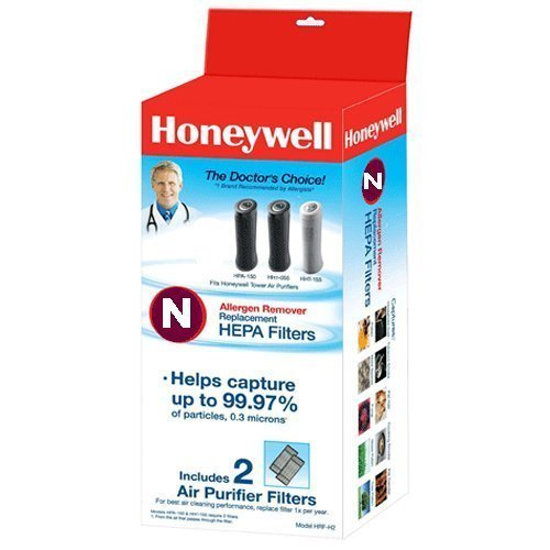 HONEYWELL HRF-N2 True HEPA Replacement Filter N, 2 Pack, 1 Pack(with Two, White