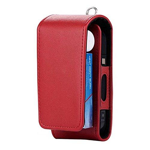 Custodia protettiva per sigaretta elettronica IQOS, in similpelle, con scomparti per carte di credito, marrone Red