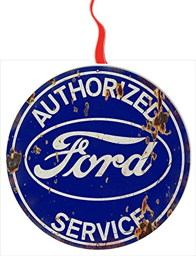 Vintage Ford Service Christmas Tree Holiday Ornament Printed Double- 2 Sided Decoration Great Unisex