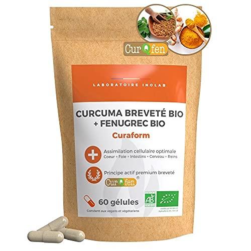 Curcuma Bio Brevettata CurQfen®   biodisponibile X 45 rispetto a un estratto di curcumina 95% + Piperina pepe nero   Risultati clinicamente provati
