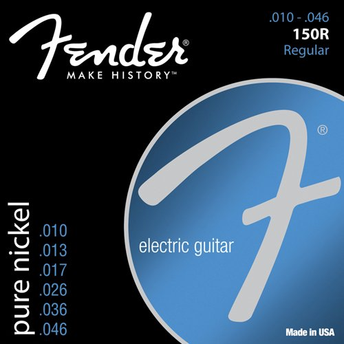 Fender 150R Pure Nickel Electric Guitar Strings, Regular