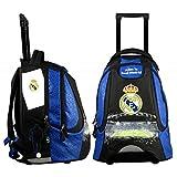 Real Madrid Sac à Dos Roulette Mixte Enfant, Bleu, 47 cm